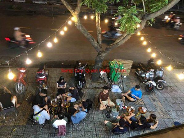 Sang quán cafe beer đối diện đầm sen
